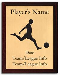 Kickball Silhouette Plaque