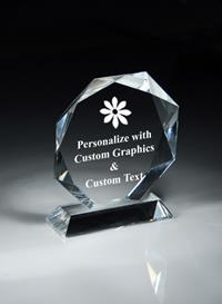 Octagon Crystal Award
