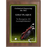 Sport Photo Golf Plaque