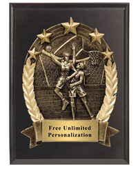 3D Five Star Basketball Plaque Female