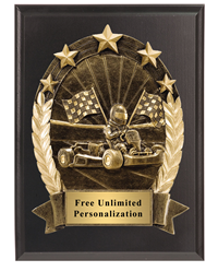 3D Five Star Racing Plaque