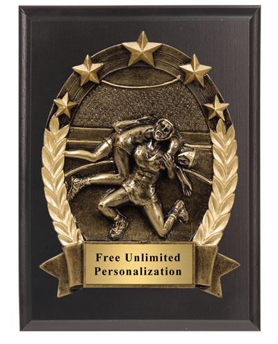 3D Five Star Wrestling Plaque