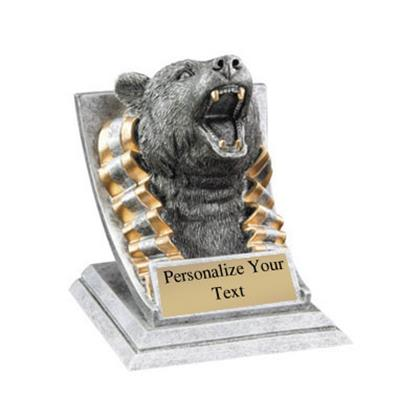 Bear Spirit Mascot Trophy