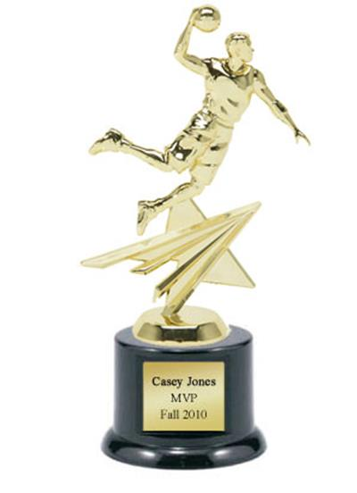 Shining Star Basketball Trophy - Male