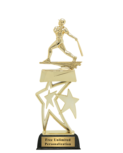 Star Baseball Trophy - Male