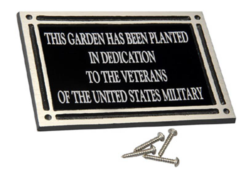 Cast Aluminum Plaque w/ Screws