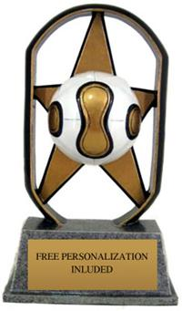 Color Starz Soccer Trophy