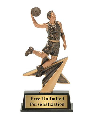 Star Power Basketball Trophy - Male