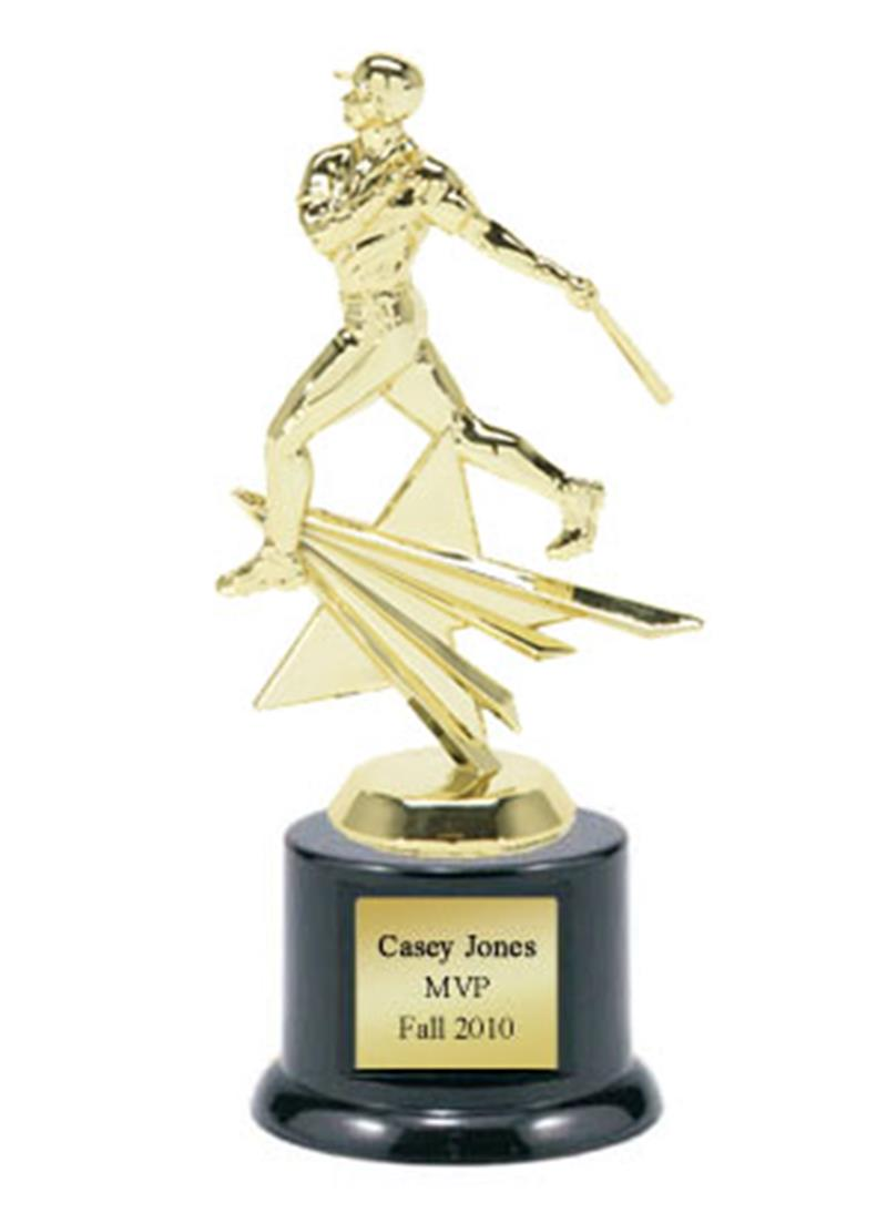 Shining Star Baseball Trophy - Male