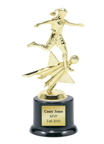 Shining Star Soccer Trophy - Female