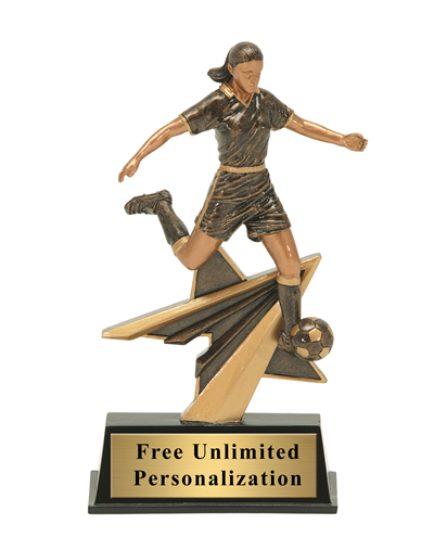 Star Power Soccer Trophy - Female