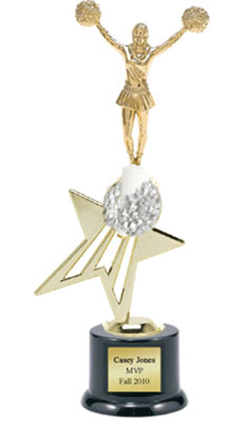 Shooting Star Cheer Trophy