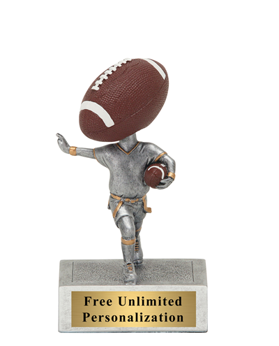 Bobblehead Flag Football Trophy