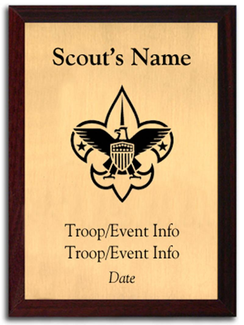 Boy Scout Silhouette Plaque