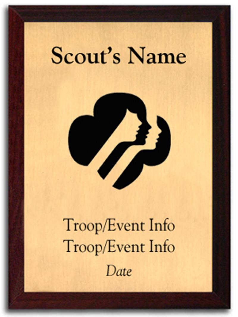 Girl Scout Silhouette Plaque