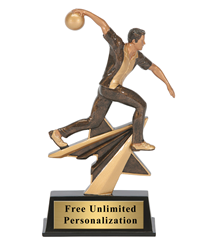 Star Power Bowling Trophy - Male