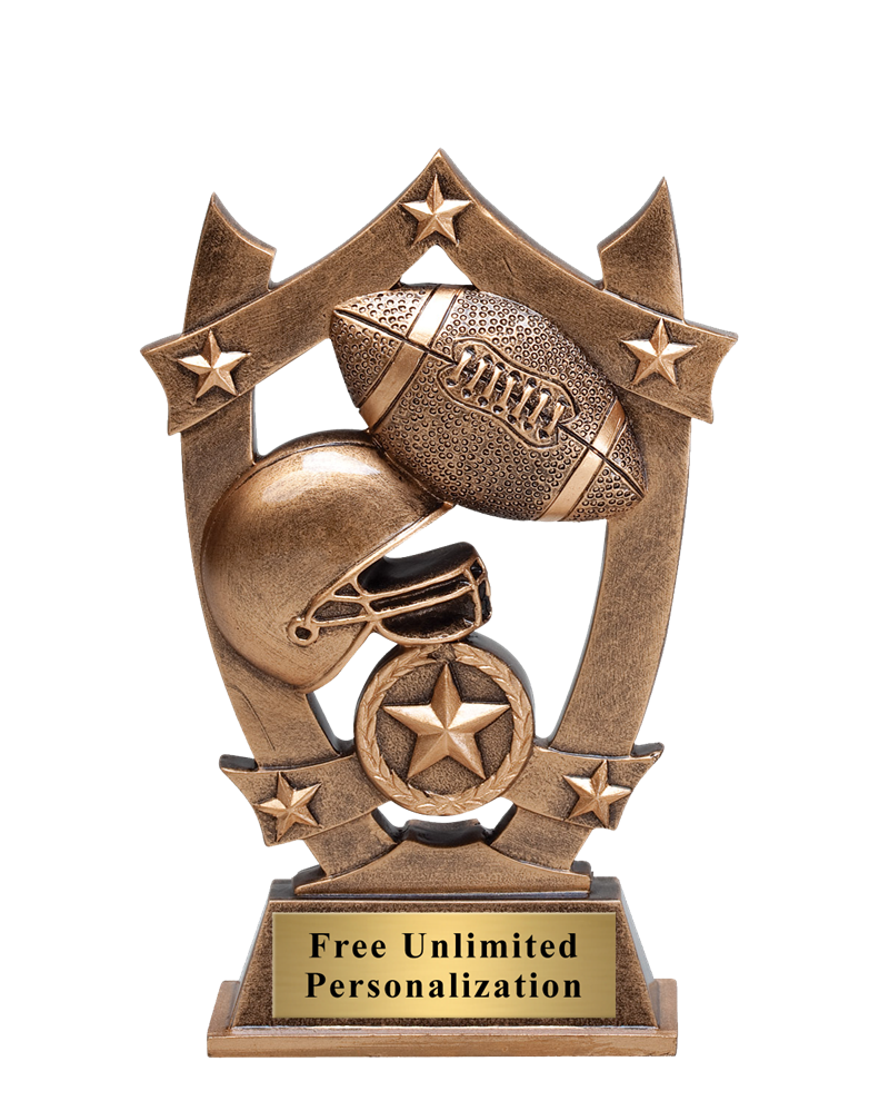Star Shield Football Trophy