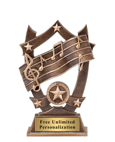 Star Shield Music Trophy