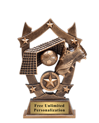Star Shield Soccer Trophy