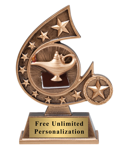 Star Comet Lamp of Knowledge Trophy