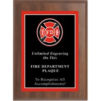 Sport Photo Fire Department Plaque