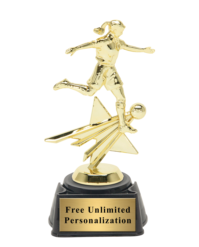 Star Action Soccer Award - Female