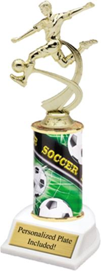 Motion Soccer Column Trophy - Male