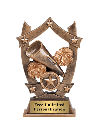 Star Shield Cheer Trophy