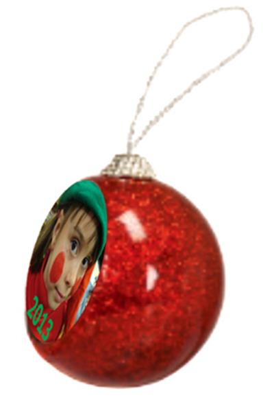 Glitter Holiday Ornament - Red