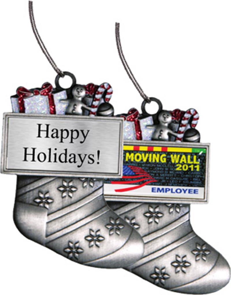 Silver Stocking Holiday Ornament