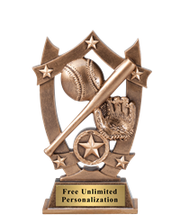 Star Shield Baseball Trophy