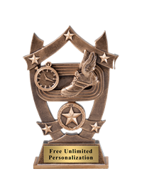 Star Shield Track Trophy