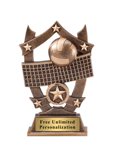 Star Shield Volleyball Trophy