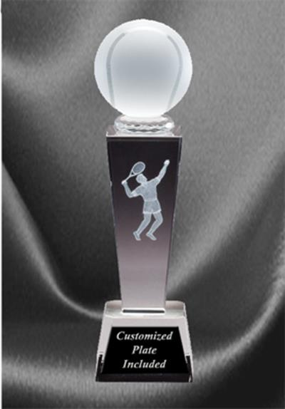 Sports Crystal Tennis Award - Male