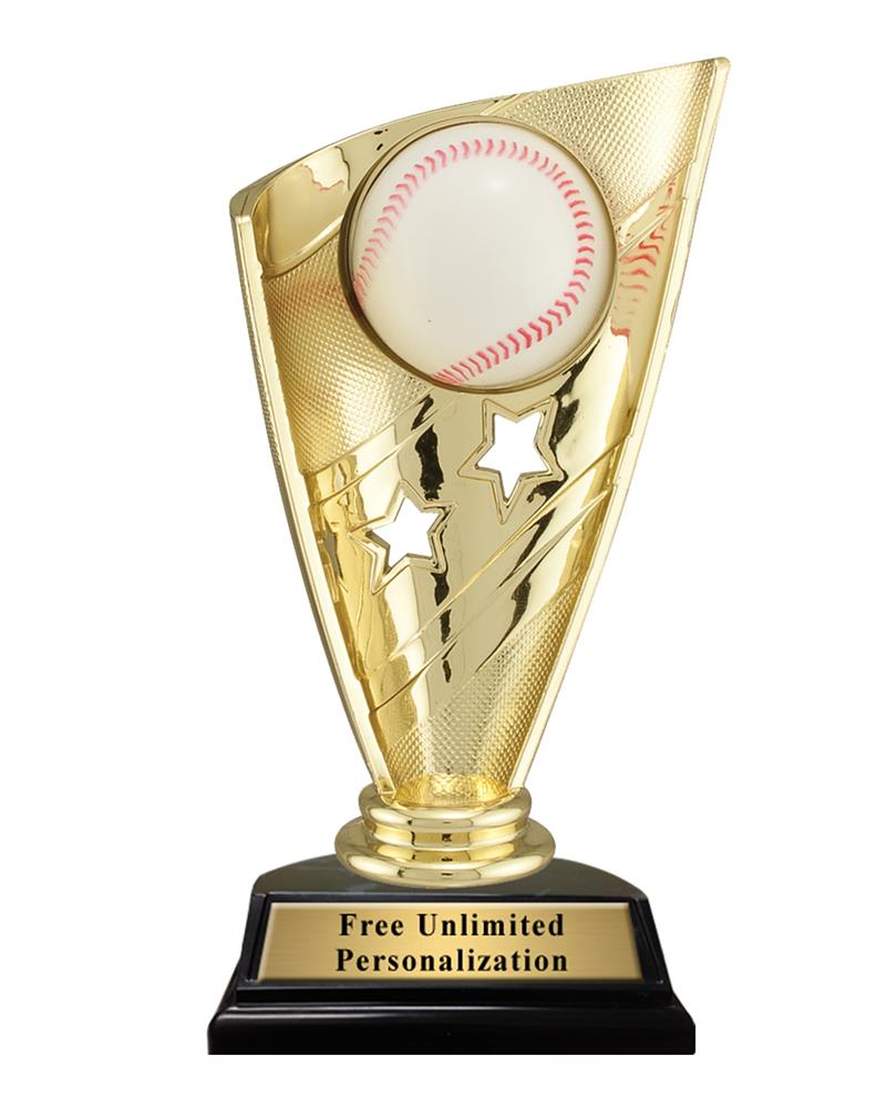 Star Banner Baseball Trophy