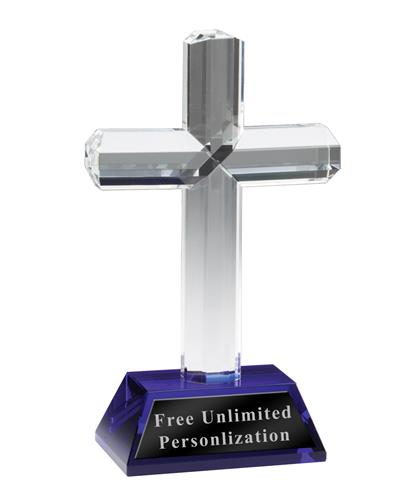 Crystal Cross With Purple Base
