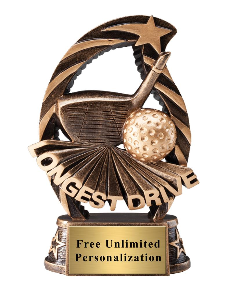 Running Star Longest Drive Trophy
