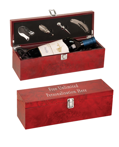 Burlwood Single Wine Box