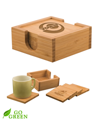 Bamboo Coaster Set - Square