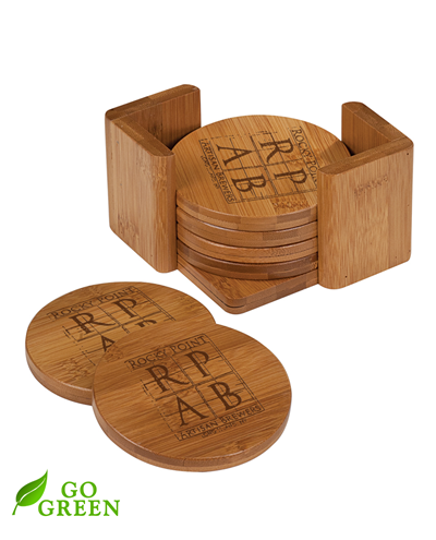 Bamboo Coaster Set - Circle