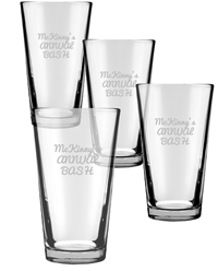 Engraved Pint Glasses 4 Piece Set