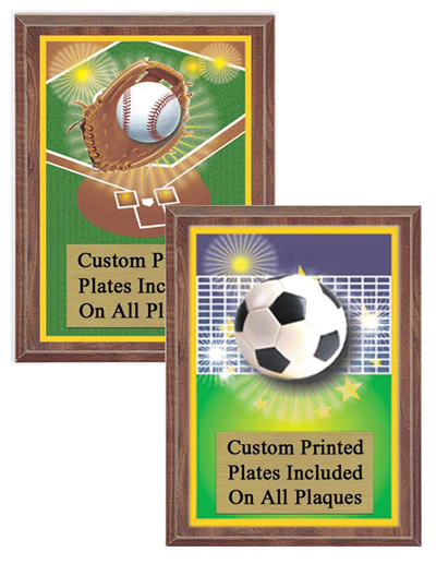 Color Scene Sports Plaque