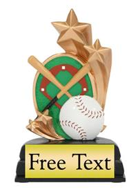 Star Scene Baseball Trophy