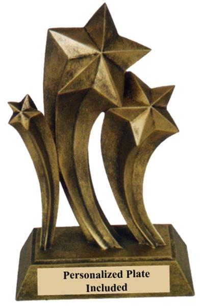 Gold Resin Star Trophy