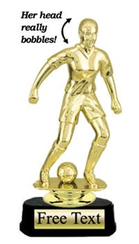 Value Bobblehead Soccer Trophy - Female