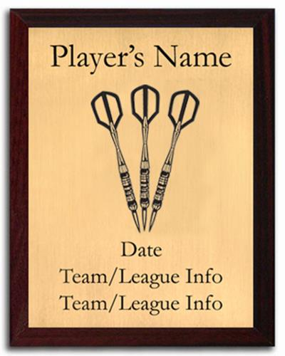 Darts Silhouette Plaque