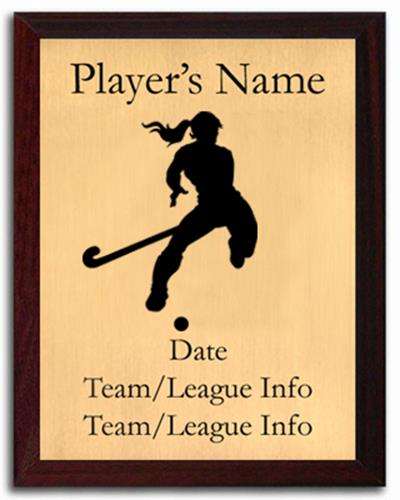 Field Hockey Silhouette Plaque