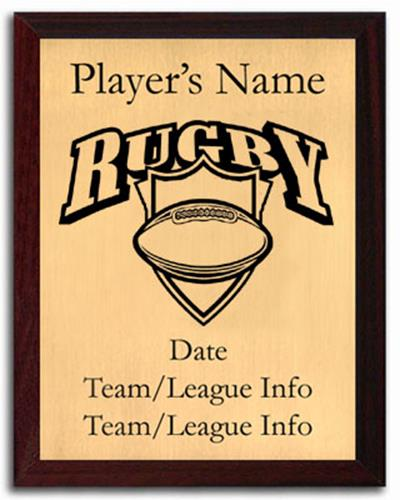 Rugby Silhouette Plaque