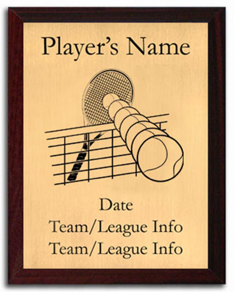 Tennis Silhouette Plaque