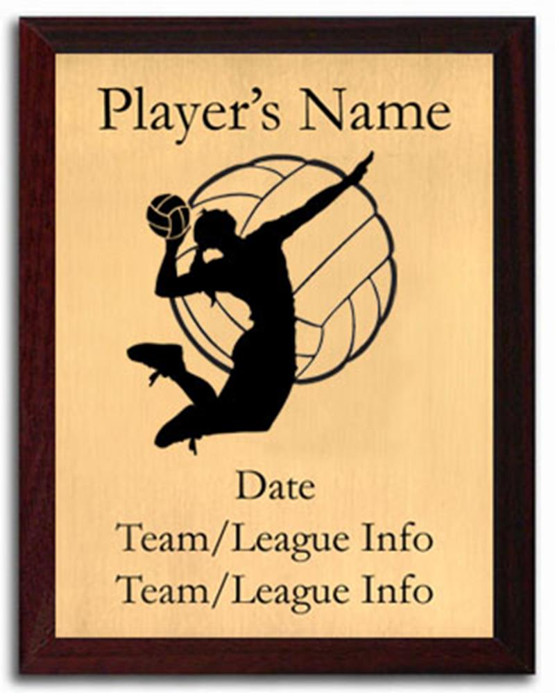 Volleyball Silhouette Plaque